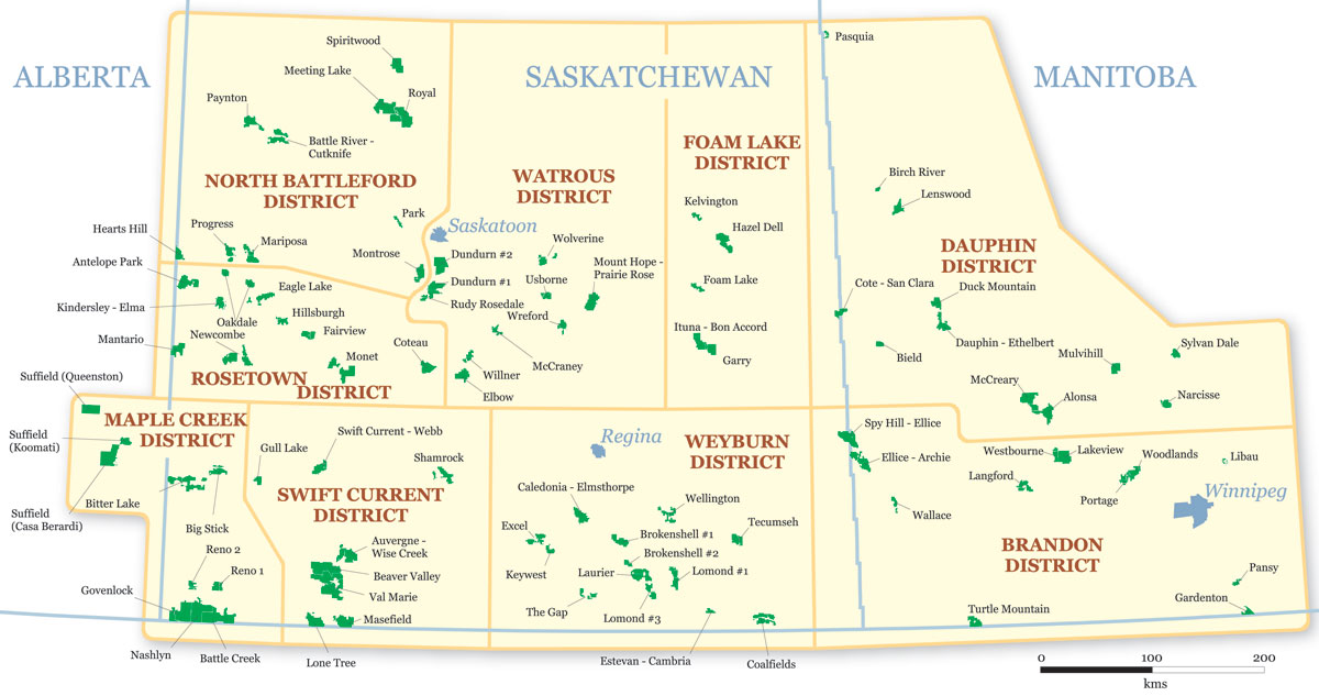 Species at Risk in Prairie Provinces Map