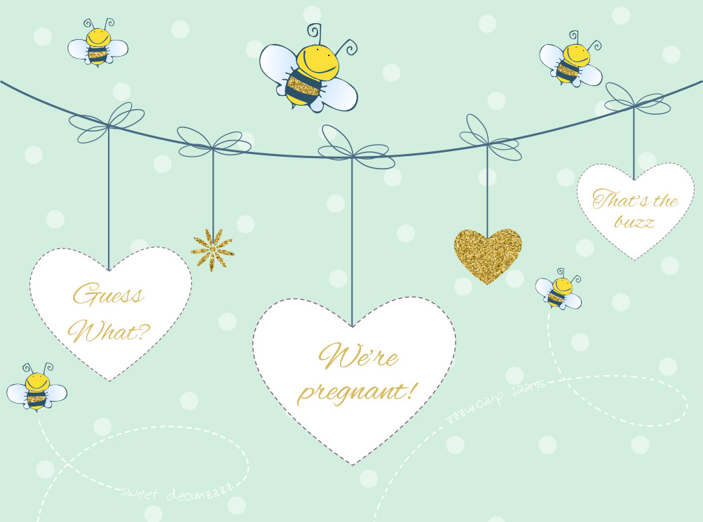 Pregnancy announcement card